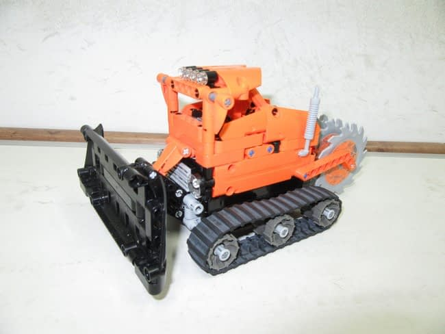 Snow Rescue Team: Snow Pusher and Slicer Vehicle