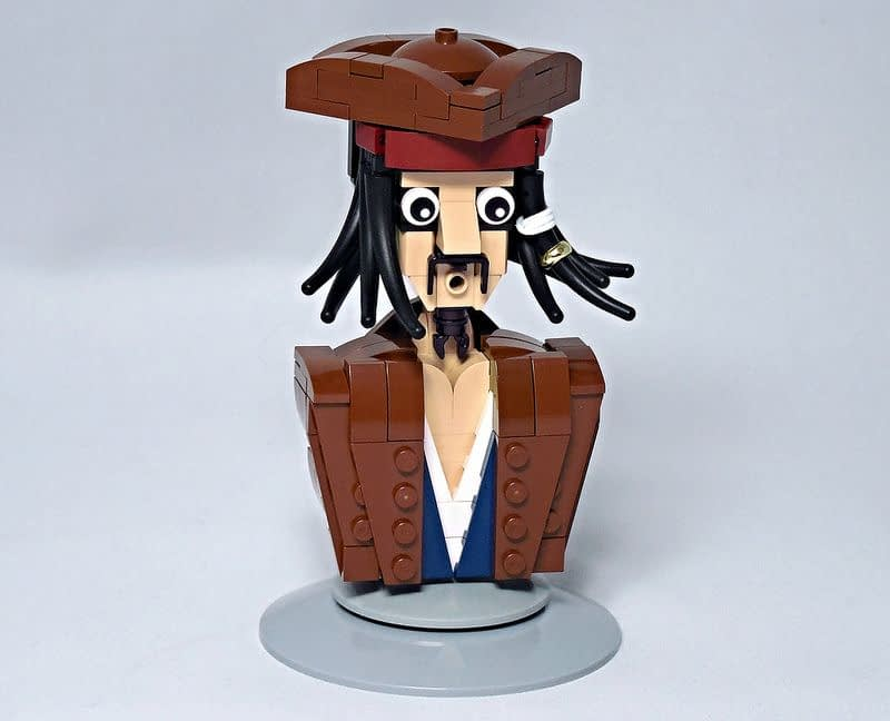 LEGO® MOC by Vitreolum: Jack Sparrow Bust